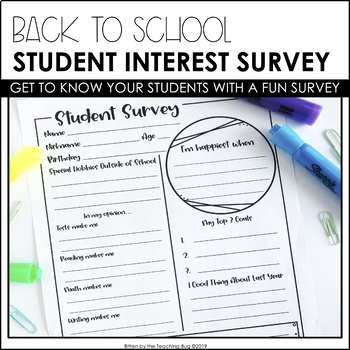 Student Interest Survey: Getting to Know Your Students