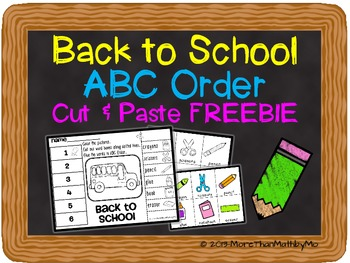 Back to School ABC Order Cut and Paste Printable---FREEBIE